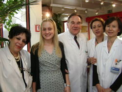 Me with Dr. Cabanis and some other staff