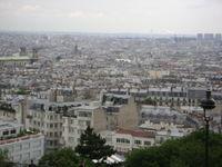 Looking down on Paris from Sacre Coeur