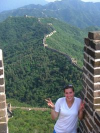 Syd on great wall