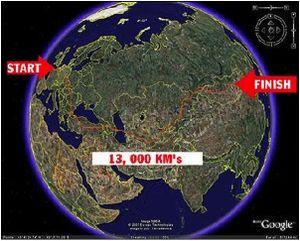 quite a route!