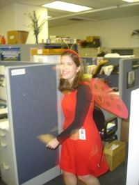 Halloween at work: Ladybug