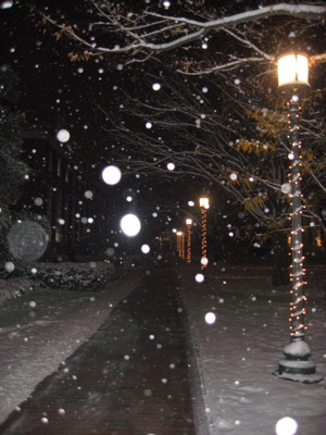 this is from my freshman year. I love snow!