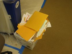 RD Mail waiting to be opened
