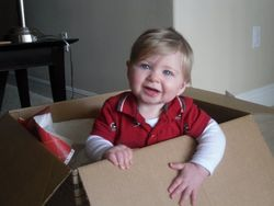 Nephew Cooper suggesting you mail your application in this box.