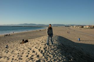 Me at the beach in December!