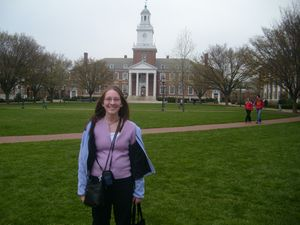 Natalie on the lower quad